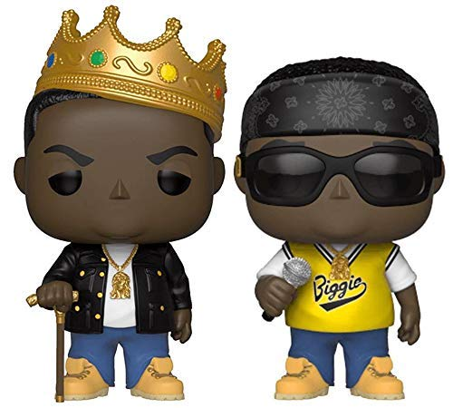"Funko Pop! Rocks: The Notorious B.I.G. Collectible Vinyl Figures, 3.75"" (Set of 2)"