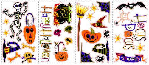 Roommates Home Indoor Room Decorative Wallpaper Sticker Happy Halloween Wall Decals ()