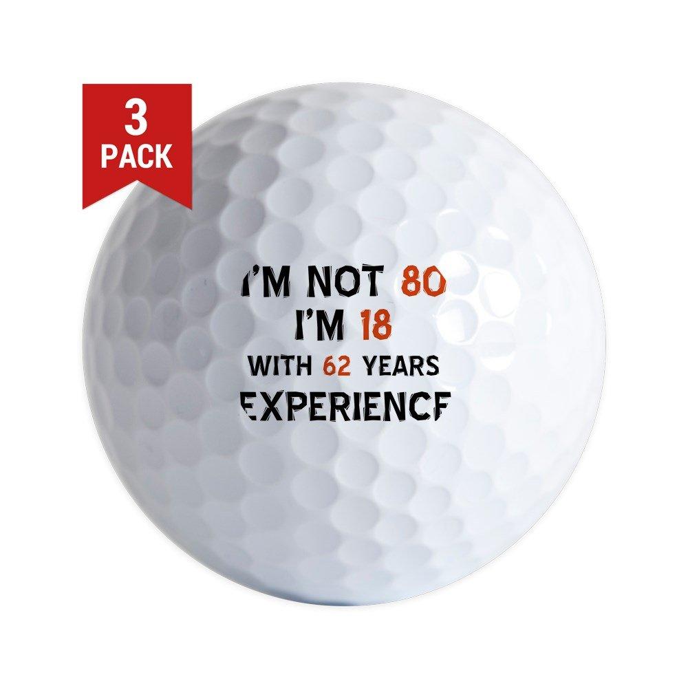 CafePress 80周年デザイン ゴルフボール 3個パック ユニークなプリントゴルフボール   B01N32W541