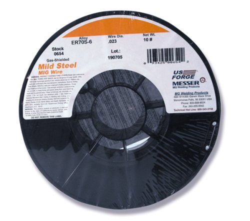 US Forge Welding Solid Mild Steel MIG Wire .023 10-Pound Spool #00654 ()