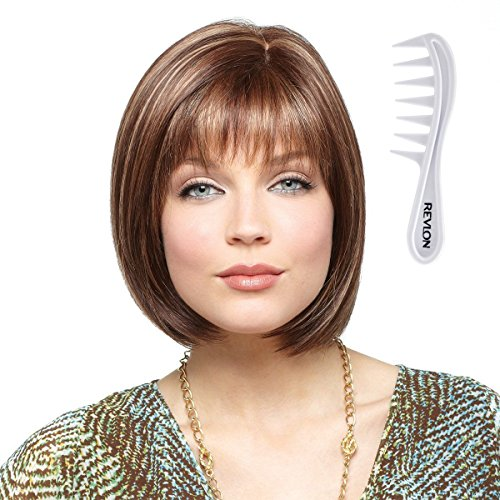 ERIKA Monofilament Wig #2532 Amore Collection by Rene of Paris, Bundle - 2 Items: Wig and Wig Lift Comb (Color Selected: COPPER GLAZE) ()