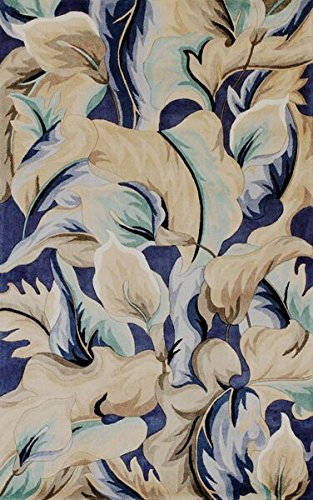 KAS Oriental Rugs Catalina Collection Calla Lillies Area Rug, 7'9