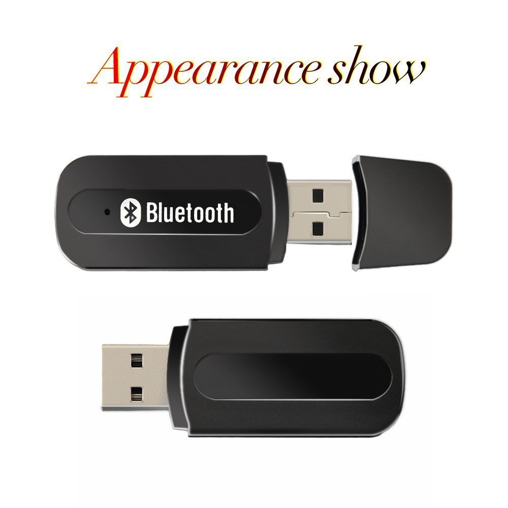 Bluetooth Adapter Receiver,URANT Car Kit Mini USB Wireless Audio Adapter Bluetooth Music Receiver & Adapter Home/Car Phone iPhone Stereo Speakers Headphones Car (AUX in) Music Sound System
