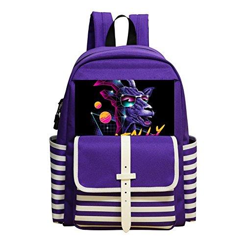 Goatally Student Backpack School Bag Cool Customized Super Bookbag Break (Bag Fbv)