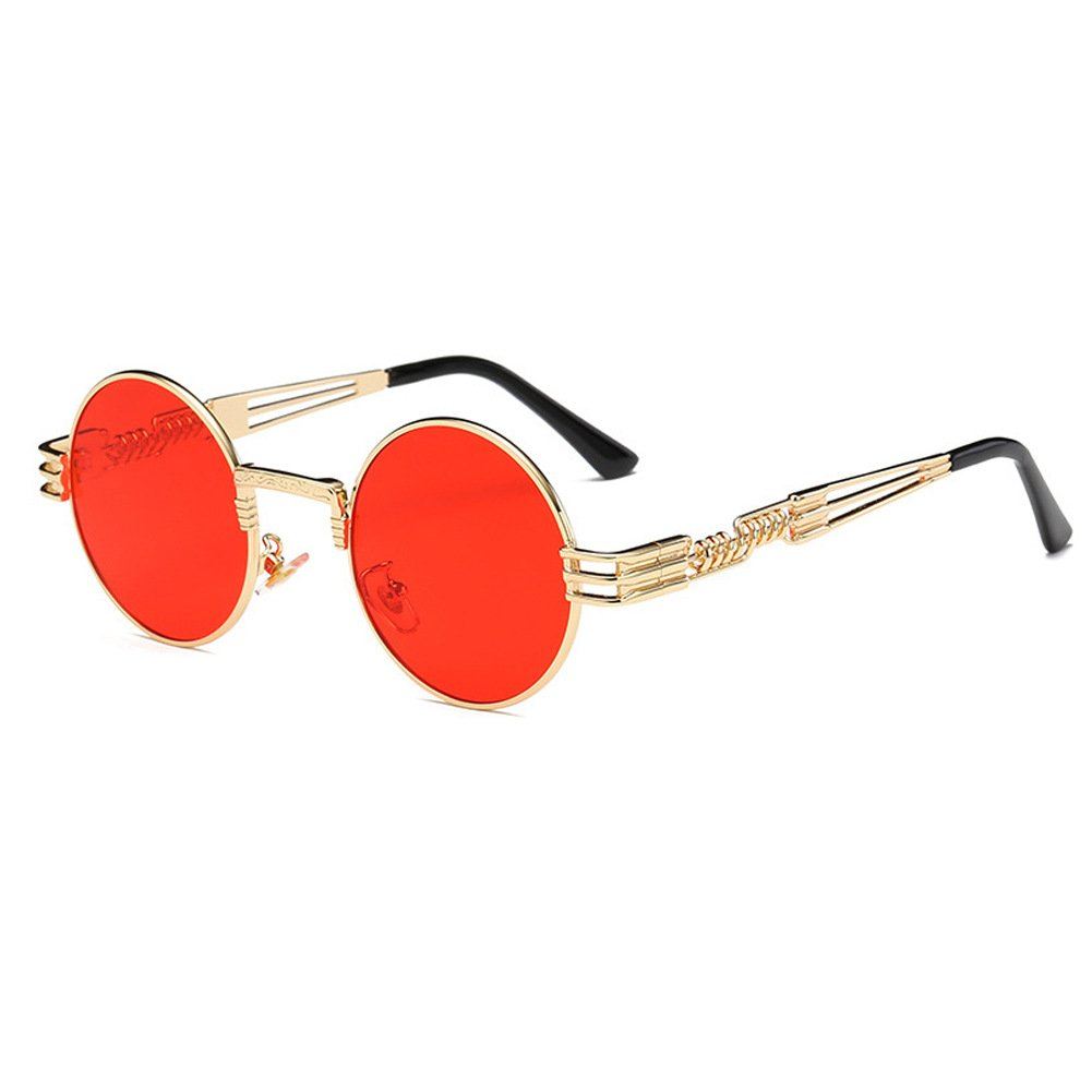 Round Retro Polarized Sunglasses Travel Glasses Women//Men Steampunk
