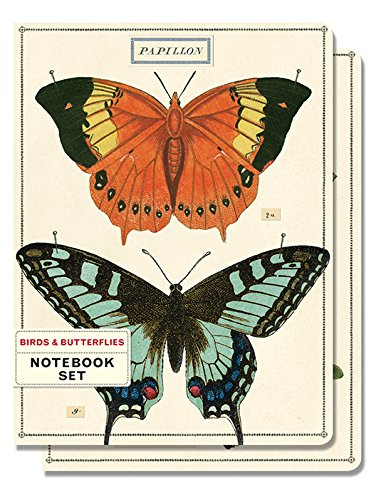 Cavallini Papers & Co. notebook set 2 birds & (Birds Notebook)