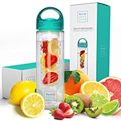 """""""We really like these infusion water bottles so much! The infusion basket is longer so it goes farther down in the water and we love the top which has a handle making it easier to take with you. These are really the best we have had!"""" J.D. Ba..."""