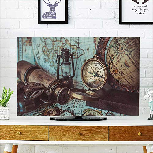 Philiphome Protect Your TV Antique Pirate Rare Items Collections Bronze Protect Your TV W32 x H51 INCH/TV 55