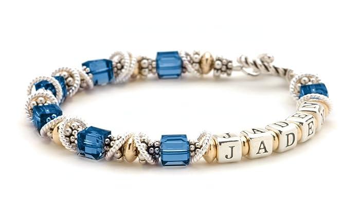 30f6d3d237e92 Amazon.com: Personalized Mothers Bracelet - September Birth Month ...
