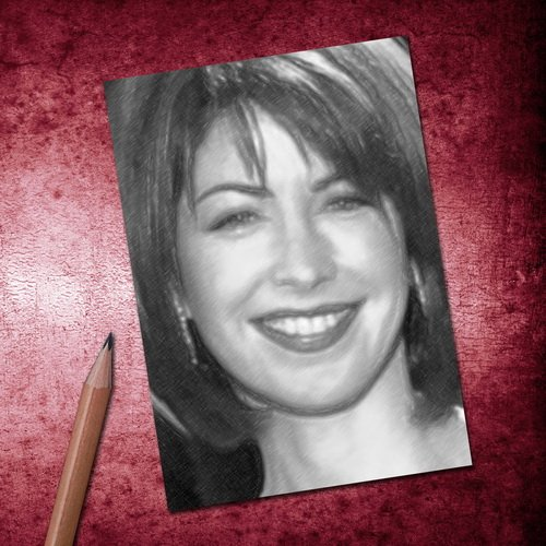 H720 (4 SEASONS) DANA DELANY - ACEO Sketch Card (Signed by the Artist) #js006