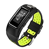 Rumas Blueteeth 4.0 Star 8 GPS Smart Watch Phone, Fitness Monitor for Your Sport Running Yoga Gym Working Business (Green)