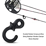 Bow String Silencer 4Pcs Durable Rubber Compound Bow Archery Bowstring Stabilizer Vibration Damper Shock Absorber