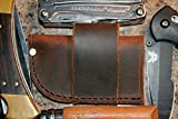 Buffalo Leather Knife Sheath - Universal - Fits Leatherman Gerber Multi Tools, Pocket Knives