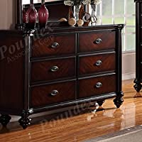 Dresser In Dark Cherry Finish by Poundex
