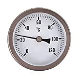 Vktech® Home/Industrial Clip on Pipe Thermometer Temperature Gauge Dial with Spring