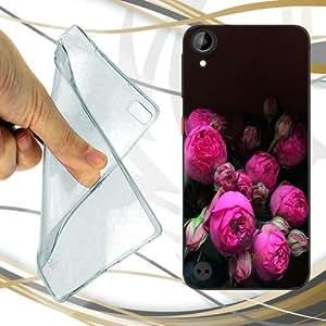 CUSTODIA COVER CASE SPRING FLOWERS PER HTC DESIRE 530