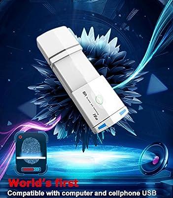 BioRec Fingerprint USB Drive for PC and Cellphone Use