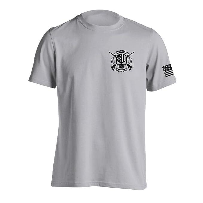cab8a064e Amazon.com: One Nation Under God Military T-Shirt: Clothing