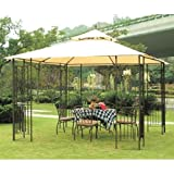 gazebo curtains home depot Garden Winds Replacement Canopy for Home Depot's Leaf Gazebo