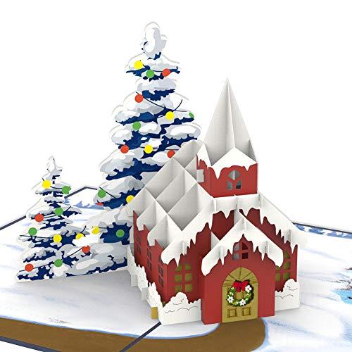 Colorpop Cards Christmas Church Pop Up Card, 3D card, Christmas pop up card, handmade greeting card