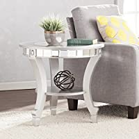 Harper Blvd Lindberg Glam Mirrored Round End Table - Matte Silver