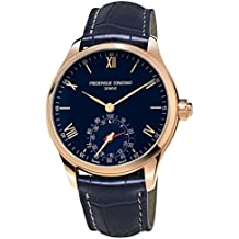 Frederique Constant Men's 'Horological Smart Watch' Swiss Quartz Stainless Steel and Leather Casual, Color:Blue (Model: FC-285N5B4)