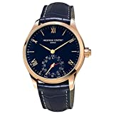 Frederique Constant Men's 'Horological Smart' Swiss Quartz Stainless Steel and Leather Casual Watch, Color:Blue (Model: FC-285N5B4)