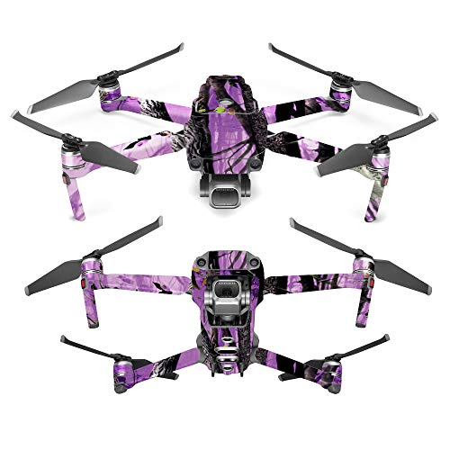MightySkins Skin for DJI Mavic 2 Pro or Zoom – Purple Tree Camo | Protective, Durable, and Unique Vinyl Decal wrap Cover | Easy to Apply, Remove, and Change Styles | Made in The USA