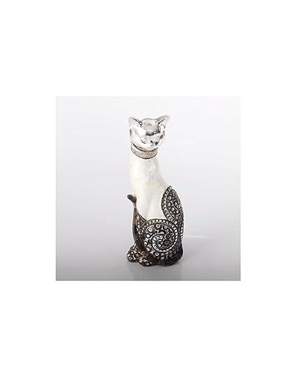 Figura Gato Nácar (8 x 7 x 23 cm) Resina
