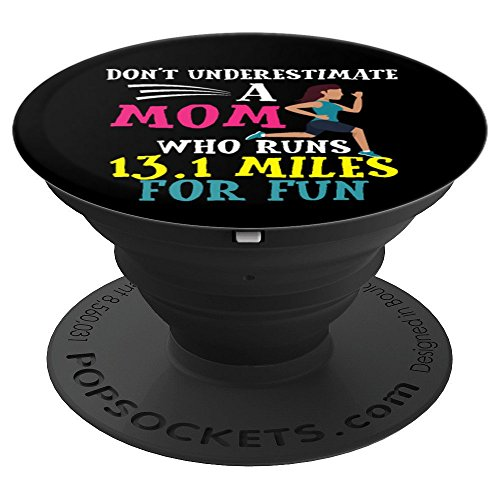 Mothers Day Half Marathon Runner 13.1 Gift Mom Birthday - PopSockets Grip and Stand for Phones and Tablets