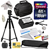 Best Value Accessory Kit for Panasonic SD40, SD60, SD80, SD90, SDX1, S45, S50, S70, S71, T50, T55, T70, T71, T76, TMX1, TM40, TM41, TM55, TM60, TM80, TM90, HS40, HS60, HS80, H85, H95, H100, H101, HS60, HS80 Video Camera Camcorder Includes - 16GB High-Speed SDHC Card + Card Reader + Power2000 VW-VBK180 2000mAh Ultra High Capacity Li-ion Battery + Deluxe Padded Carrying Case + Professional 60' Tripod + Lens Cleaning Kit including LCD Screen Protectors Photo Print