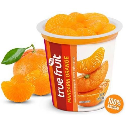 Sundia True Fruit Mandarin Orange with Lid, 7 Ounce - 12 per case.
