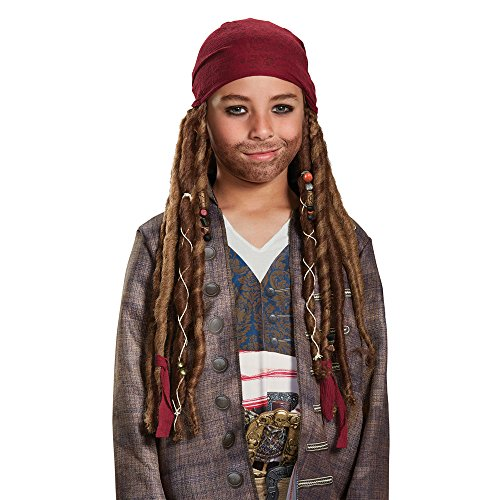 Disney POTC5 Jack Sparrow Bandana W/Dreads - Child,  Multicolor,  One Size