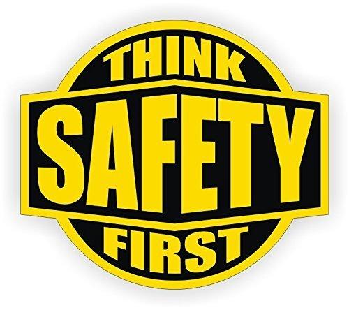 StickerDad  Think Safety First Hard Hat Sticker V2 Hard Hat