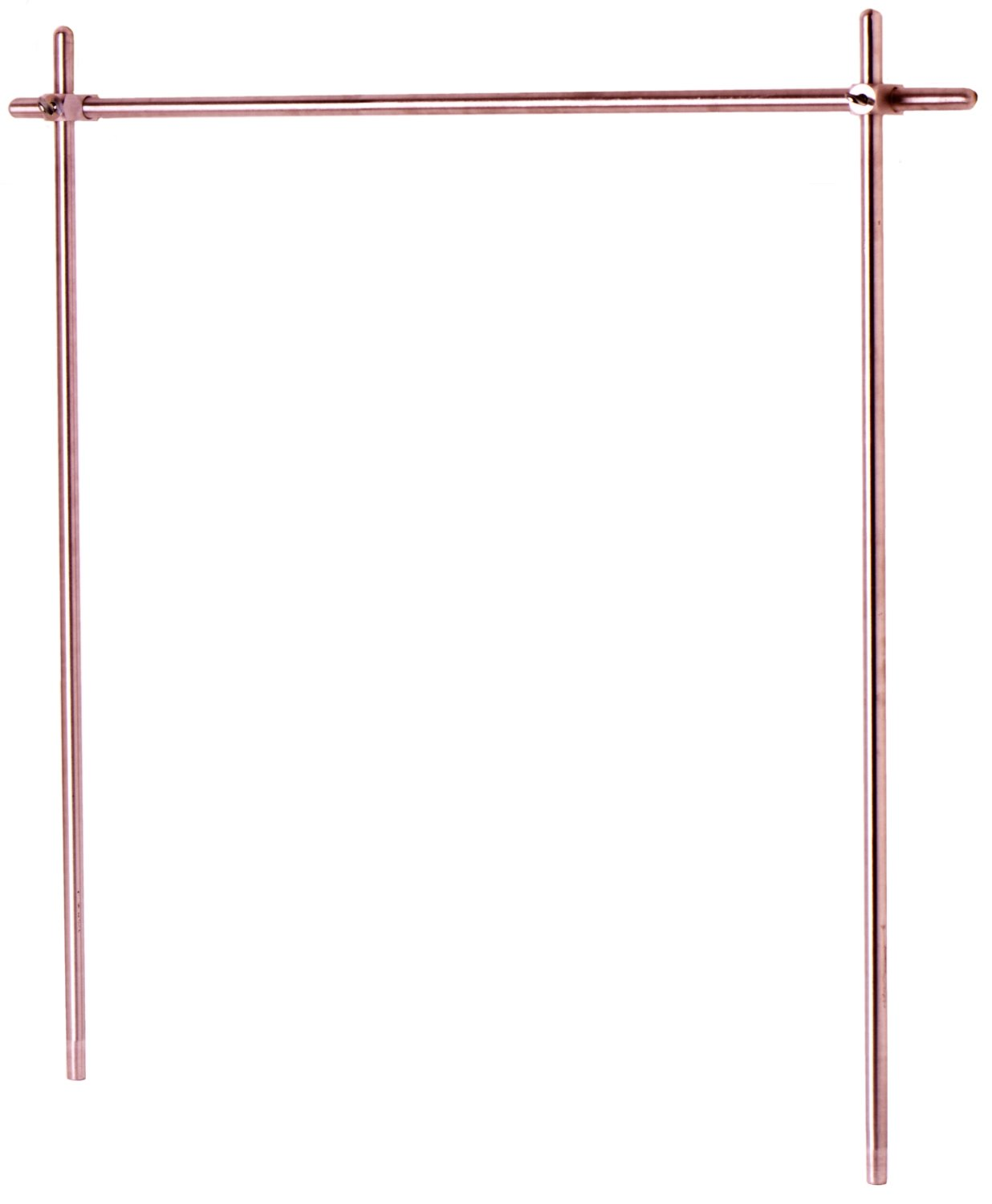T&S Brass BL-9000-05 Upright Aluminum Rod, 3/4-Inch Diameter, 39-Inch Overall Length
