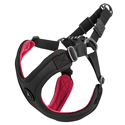 Choke Free Dog Harness - Gooby Choke Free Escape Free Sport Dog Harness for Dogs That Pulls and Escapes, Black, Small