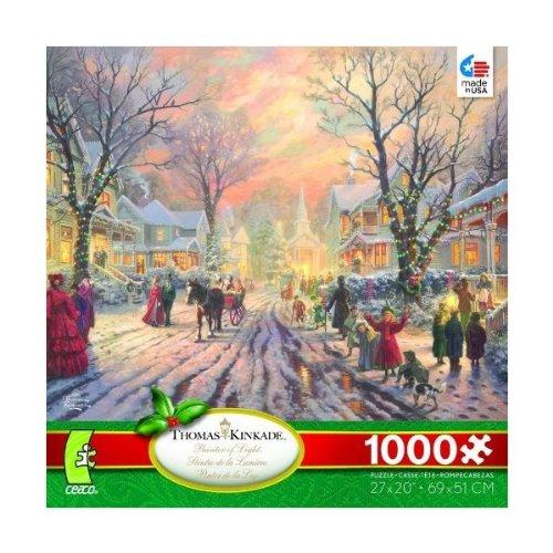 THOMAS KINKADE CHRISTMAS 2012 JIGSAW PUZZLE A VICTORIAN CHRISTMAS CAROL 1000 Pieces