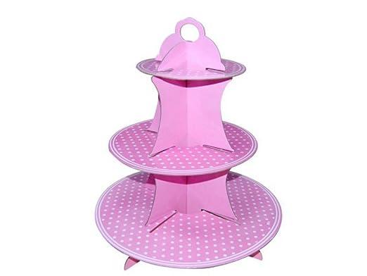 Lote de 15 Expositores Decorativos para Cupcakes Rosas con ...