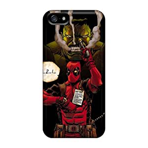 Apple Iphone 5/5s Qbt7845xSpH Support Personal Customs HD Hulk And Deadpool Image Scratch Protection Hard Phone Covers -MarcClements