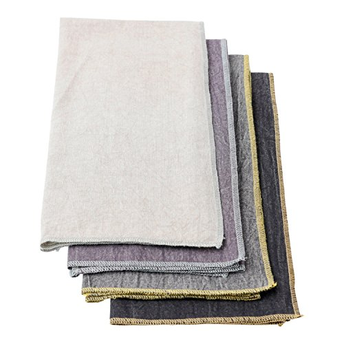 Inch Towel Bar 24 Country - Hallmark Home Multi-Colored Gray Chambray Bar Towels, Set of 4