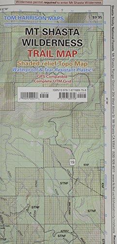Mt Shasta Wilderness Trail Map (Tom Harrison Maps)