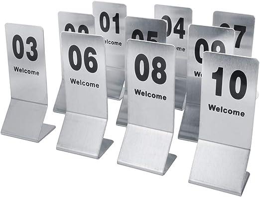 Combort 1-10 Puntales de números de Mesa de Doble Cara Acero ...