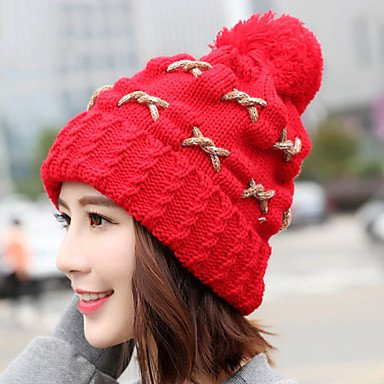 Plus Outdoor Cashmere Color Knitted Warm Ball Rope Protect Stretch Pure Hair GSM Caps Ear Women Winter Wool Crimping Skiing ONESIZE Hat Twist wwZXq