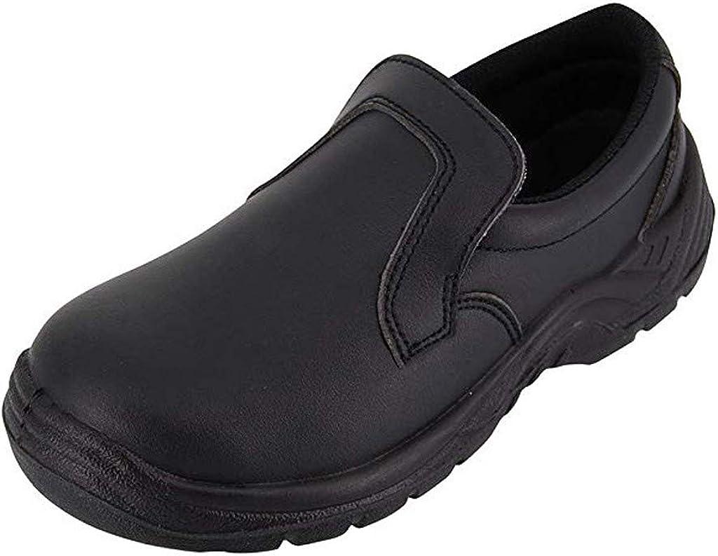 Zapatos de Seguridad Trabajo Antideslizante para Uniforme Chef Enfermera Médica Restaurante Mujeres Zapatos para Cocina Comodos Negro Blanco Yvelands