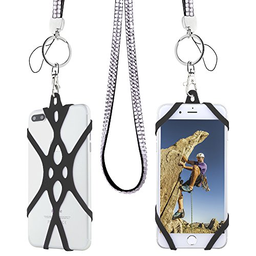 Cell Phone Lanyard Strap, Gear Beast Bling Fashion Universal Smartphone Case Cover Holder Lanyard Necklace Strap For iPhone X 8 7 6S 6 Plus Galaxy S8 Plus S7 S6 Edge Note 8 5 Jitterbug Smart and More