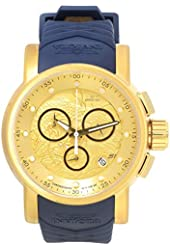 Invicta 21627 Men's S1 Rally Gold Dial Blue & Beige Silicone Strap Chronograph Watch