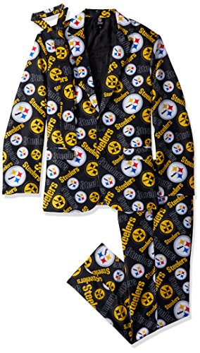 Pittsburgh Steelers Repeat Ugly Business Suit - Mens Size 46 (Slippers Pittsburgh Steelers Nfl)