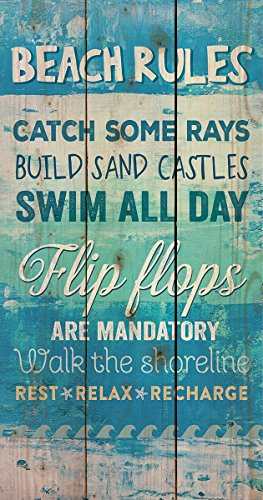Beach Rules Flops Board Plaque product image