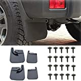 FidgetKute for Jeep Wrangler JL 2018 Front and Rear Splash Guards Fender Flares Mud Flaps