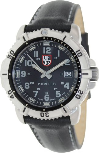 Luminox Colormark Black/Grey Dial Steel Black Leather Ladies Watch A.7251